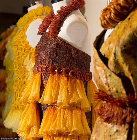adriana bertini showcases  gowns   condoms