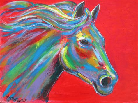 colorful horses colorful paintings pictures to pin on