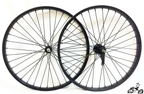 black   spoke bicycle wheels  coaster brake