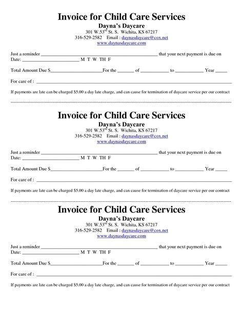 receipt for child care services template child care receipt invoice jordi preschool invoice