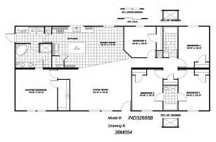 5 Bedroom Modular Home Floor Plans Manufactured Home Floor Plan 2010 Clayton Independence 5