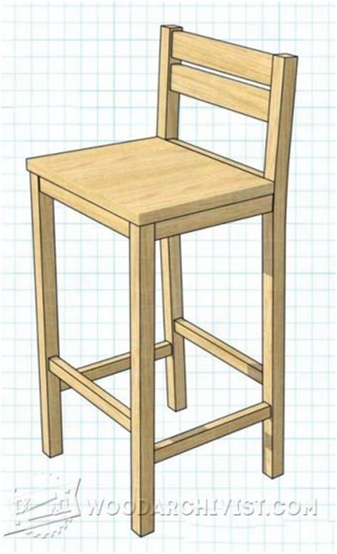 diy bar stool woodarchivist
