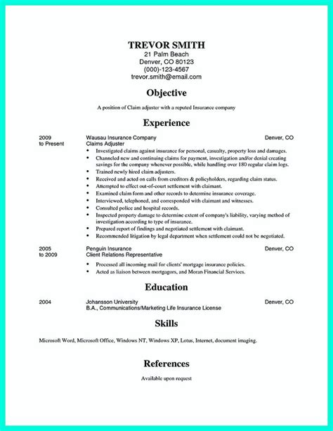 Adjuster Sle Resumes by Insurance Adjuster Resume Exles 28 Images Insurance Claims Adjuster Resumes Exles Siteye