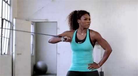 serena williams bench press workout like an athlete
