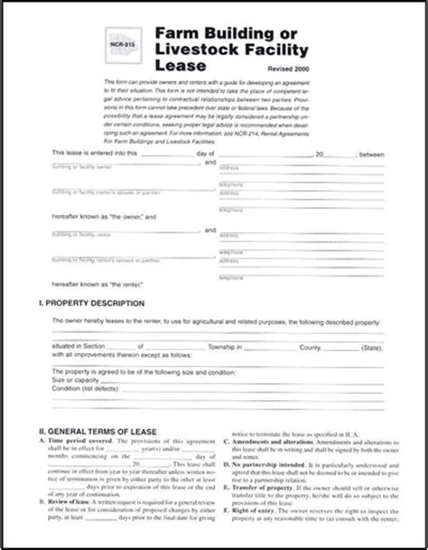 farm rental agreement template rental agreements for farm buildings and livestock