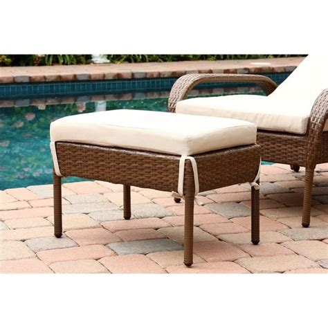 abbyson chaise abbyson living palermo outdoor wicker chaise with cushion