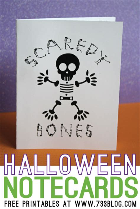 printable halloween note cards halloween notecards free printable inspiration made simple