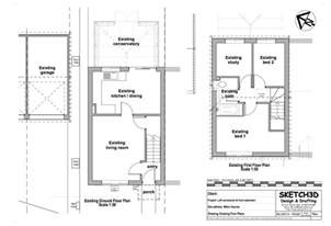 Loft Conversion Open Plan Ground Floor by Sallas Free Access Garage Design Plans Uk