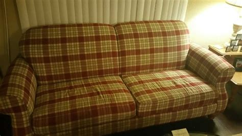 couch fort worth letgo plaid sofa loveseat in fort worth tx
