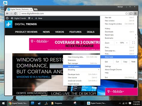 windows 7 start bar on top how to pin web links to the windows 10 start menu or task