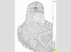 Zentangle stylized eagle stock vector. Illustration of ... Eagle Coloring Pages Free