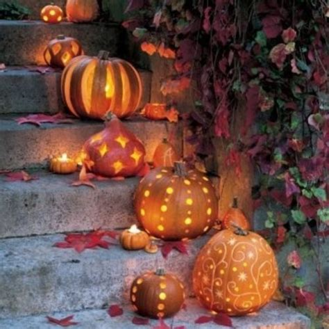 Country Style Display Homes - halloween pumpkin decorations