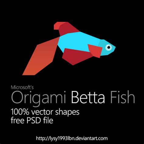 Origami Betta Fish - origami betta fish by lysy1993lbn on deviantart
