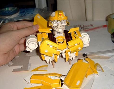 How To Make A Paper Transformer Bumblebee - how to make bumblebee out of paper topic world