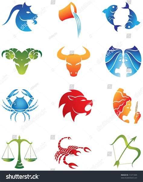 logolike zodiac star signs isolated  stock vector