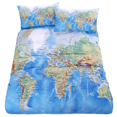 world map bedding world map bedding promotion shop for promotional world map