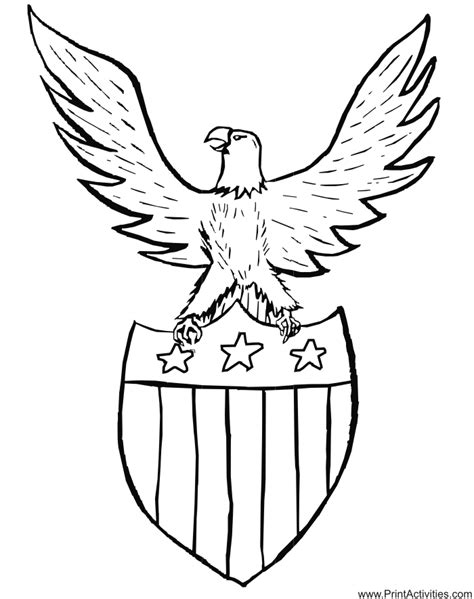 american flag and eagle fourth of july coloring page for printable patriotic coloring pages coloring home