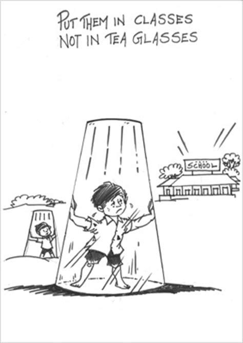 Handmade Poster On Child Labour - how a cartoonist views child labour