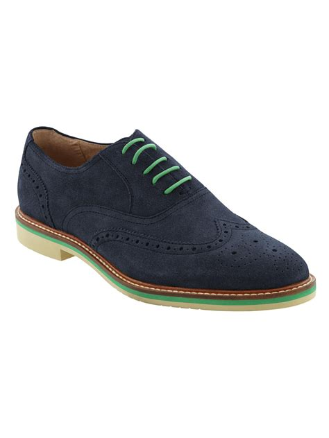 On Our Radar Banana Republic Supports The Earth by Banana Republic Suede Oxford Navy In Blue For