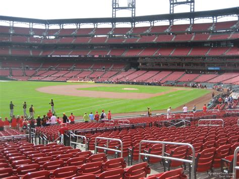 section 130 busch stadium field level outfield busch stadium baseball seating