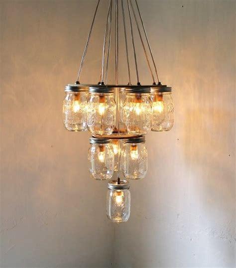 Mason Jar Chandelier Diy Ideas For Home Pinterest Diy Jar Chandelier Tutorial