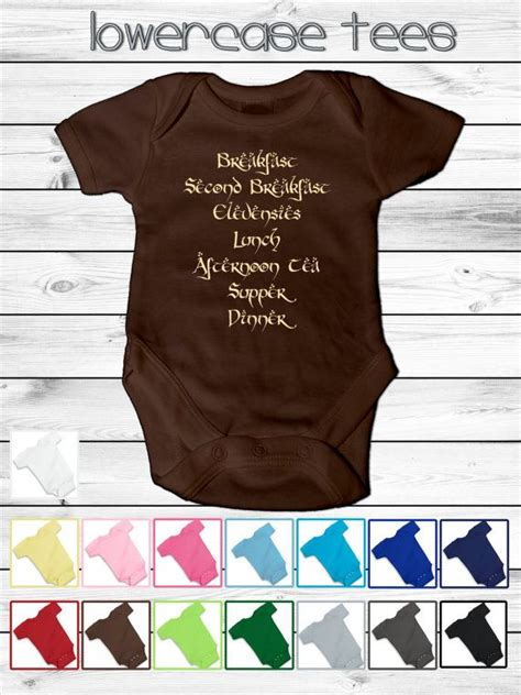 Baby lord of the rings inspired infant onesie