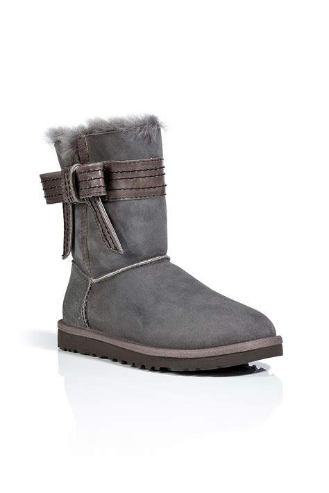 ugg suede josette boots in grey in gray grey lyst