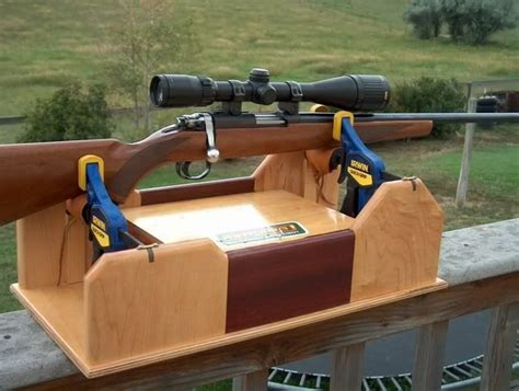 how to build a rifle bench rest homemade gun cleaning stand plans projects near