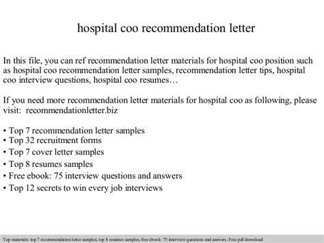 Hardship Letter To Fema hospital coo recommendation letter