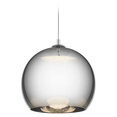 Led Pendant Lighting Elan Lighting Rendo Chrome Led Pendant Light With Globe Shade 83791 Destination Lighting