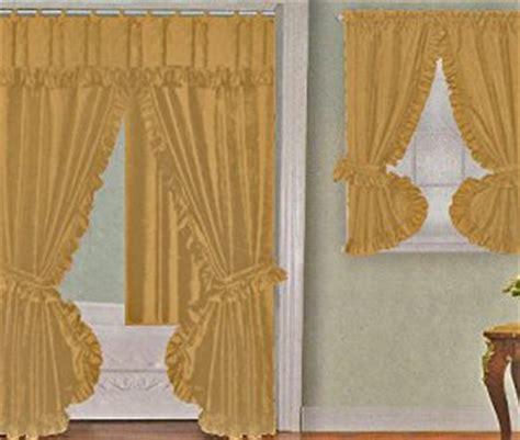 yellow bathroom window curtains amazon com yellow gold fabric double swag shower curtain