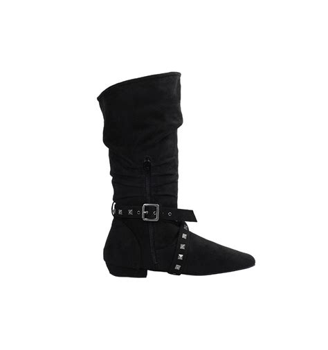 West Coast Swing by Black Suedette Leather West Coast Swing Boot With