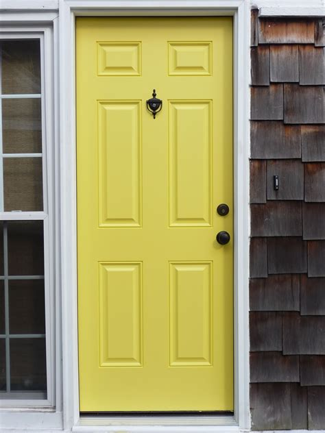 Yellow Front Door Growing Room Colors And A Yellow Door