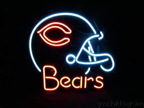 chicago bears light up sign chicago bears helmet neon sign no lite light ebay