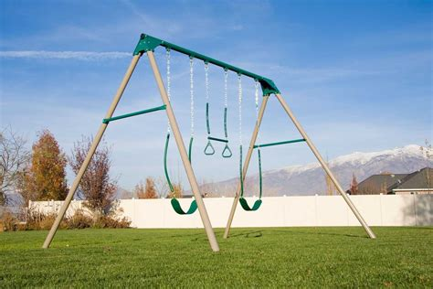 lifetime metal swing set best swing sets for older kids the backyard site