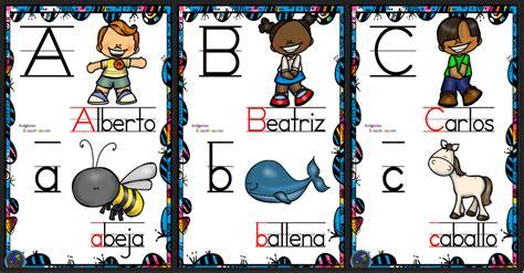 abecedario para decorar la sala de clases abecedario nombres propios y animales para decorar la