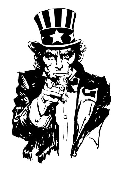 coloring page of uncle sam uncle sam picture cliparts co