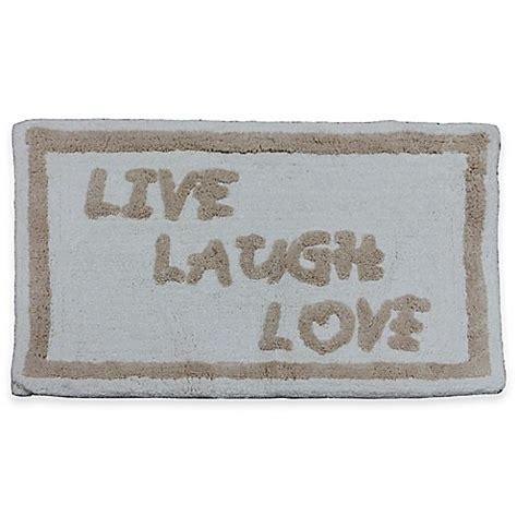live laugh rug quot live laugh quot bath rug bed bath beyond