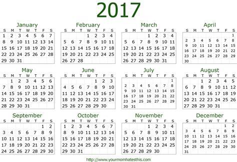 Calendar 2018 Template Png 2017 Calendar