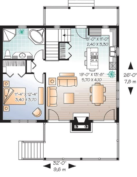 vacation cottage floor plans cute vacation home with great deck 21857dr 1st floor