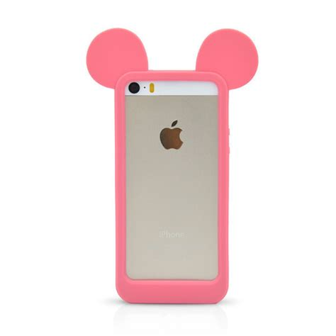 Bumper Iphone 5 5s 5g Softcase Iphone 5 aliexpress buy new fashion black 3d mickey mouse ears silicon frame bumper for iphone 5g 5