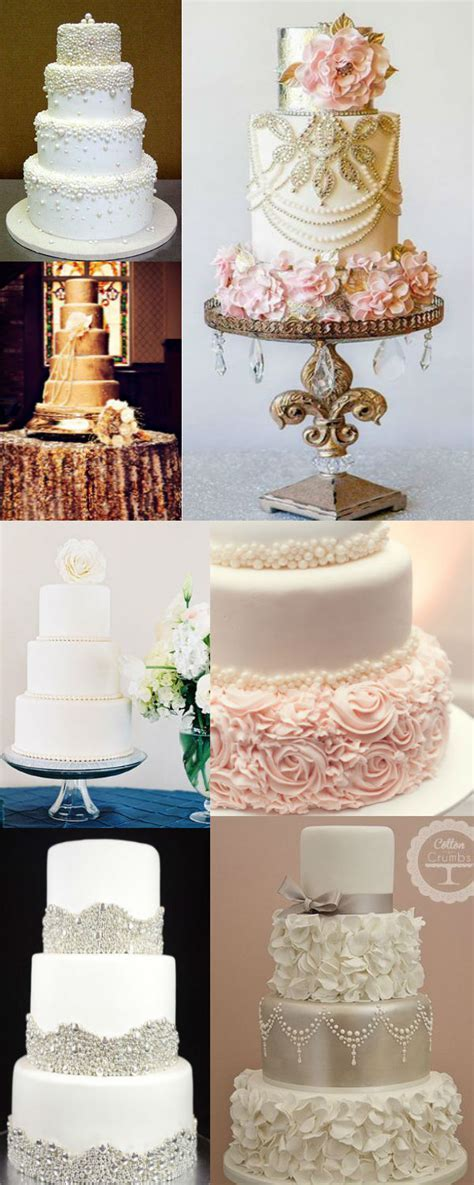 25 Fabulous Wedding Cake Ideas With Pearls