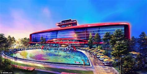 theme hotel europe ferrari land zooms into spain daily mail online