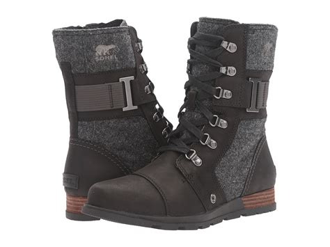 sorel plus major low side zip leather boots sorel major womens cold weather boots extended