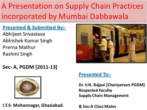 Mba In Supply Chain Management In Mumbai by Supply Chain Management Mumbai Dabba Wala New 1