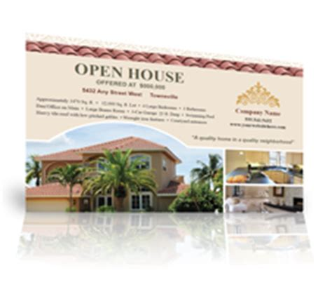 open house postcard template open house ideas for real estate agents ehow