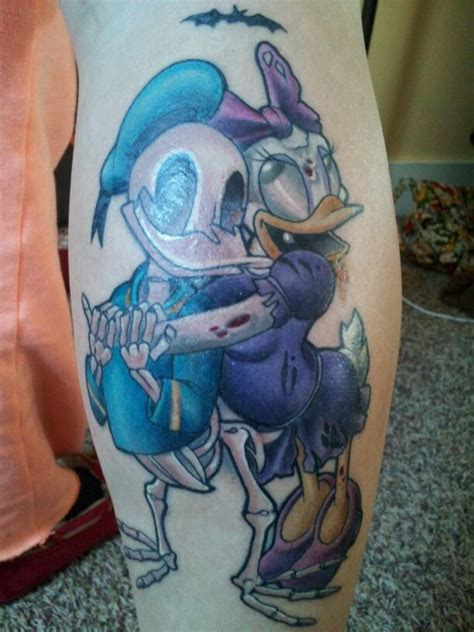donald duck tattoo donald and duck disney zombies by tom
