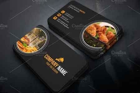 restaurant business card  freepsdvn