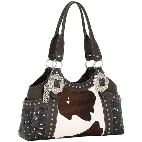 American Tote Bag american west 174 prairie collection tooled leather