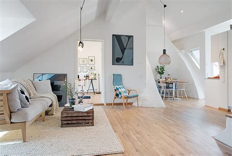 Cozy Livingroom cozy apartment decorated in pure modern scandinavian style